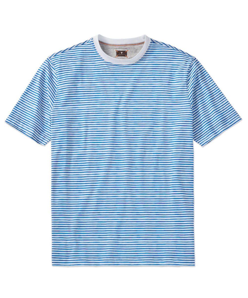 Left Coast Tee Stripe Print Short Sleeve T-Shirt
