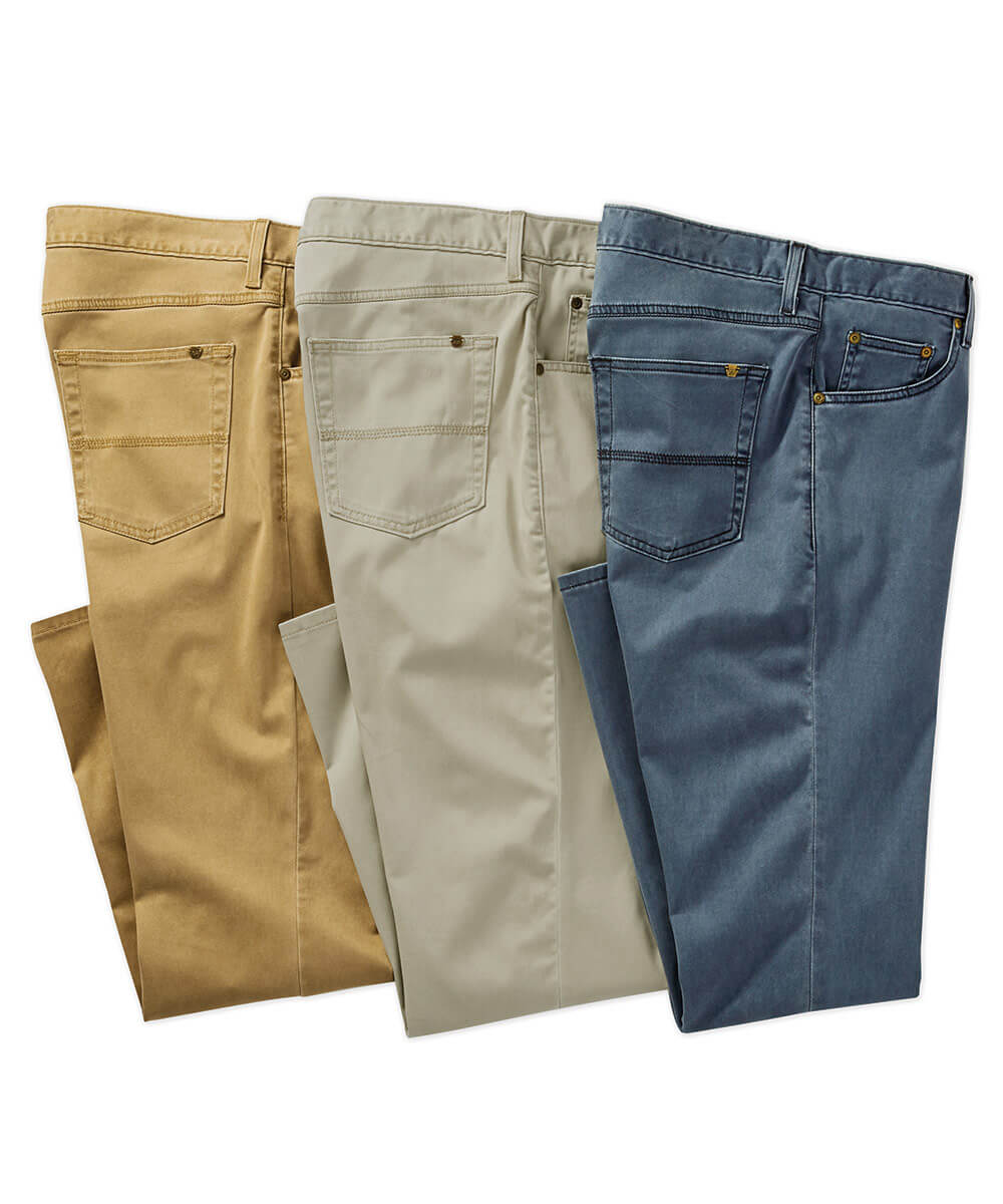 Bills Khakis 4-Way Stretch Tencel Twill 5-Pocket Pant - Oyster