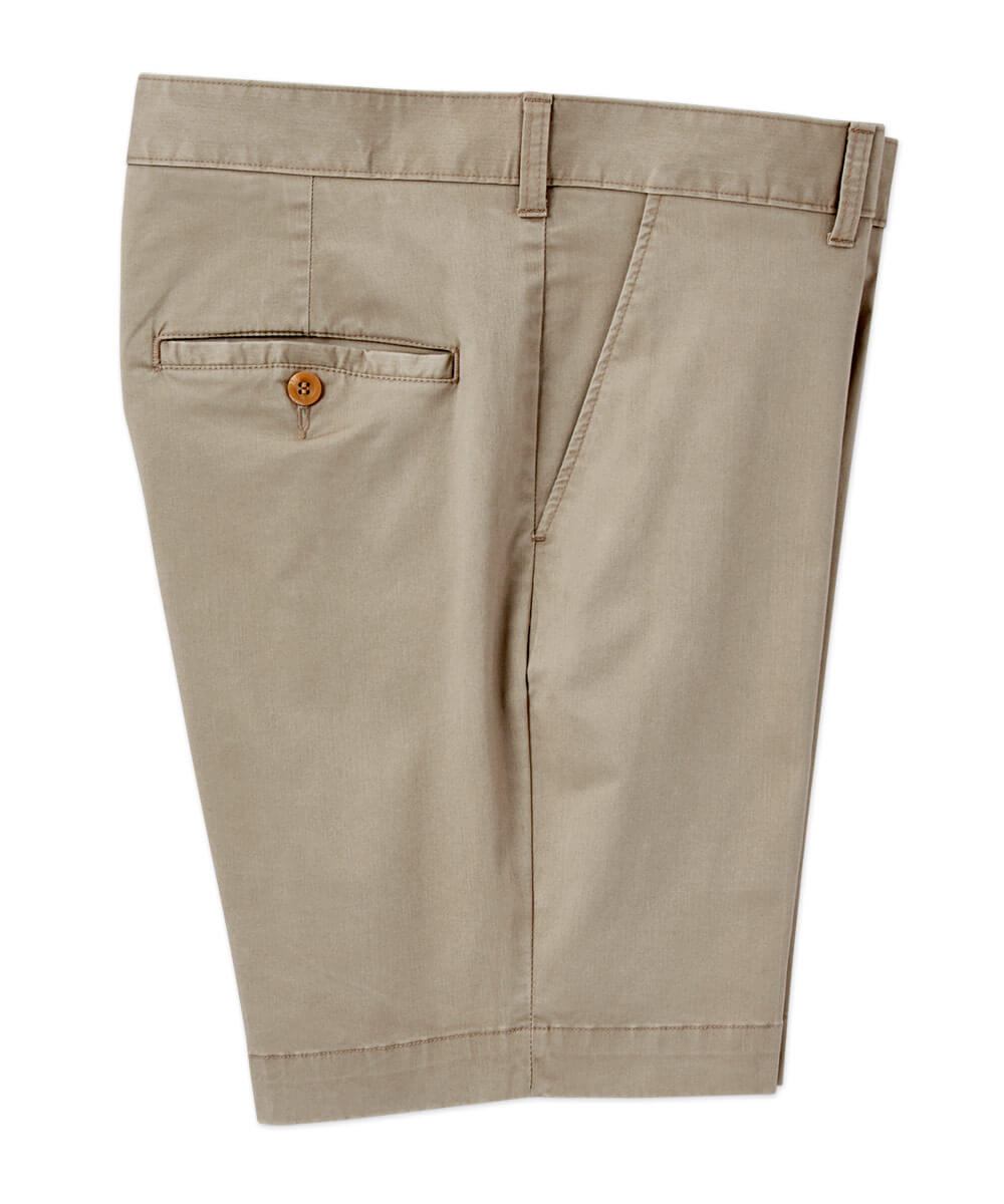 Bills Khakis Parker Stretch Sateen Flat-Front Short