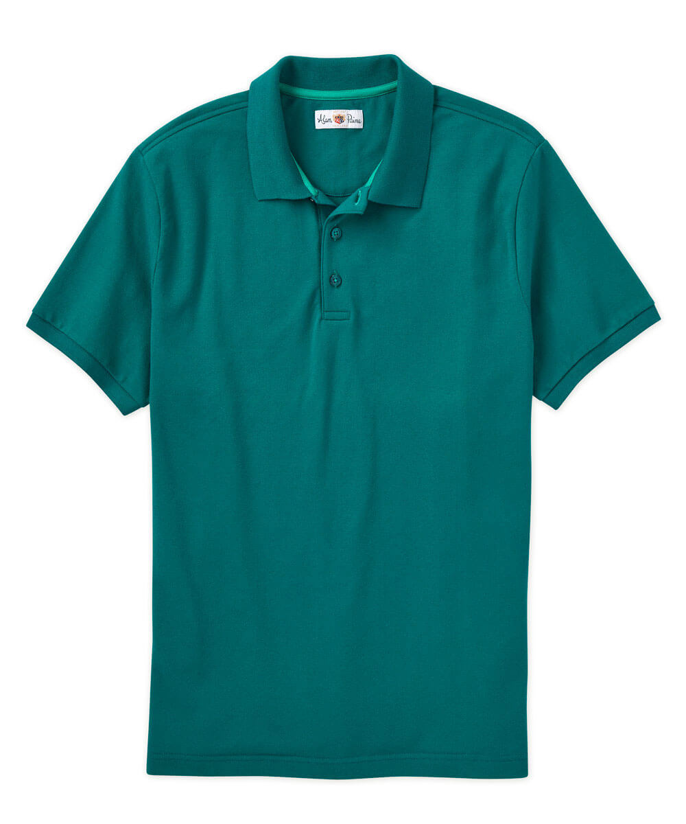 Alan Paine Solid Stretch Pima Short Sleeve Polo Shirt