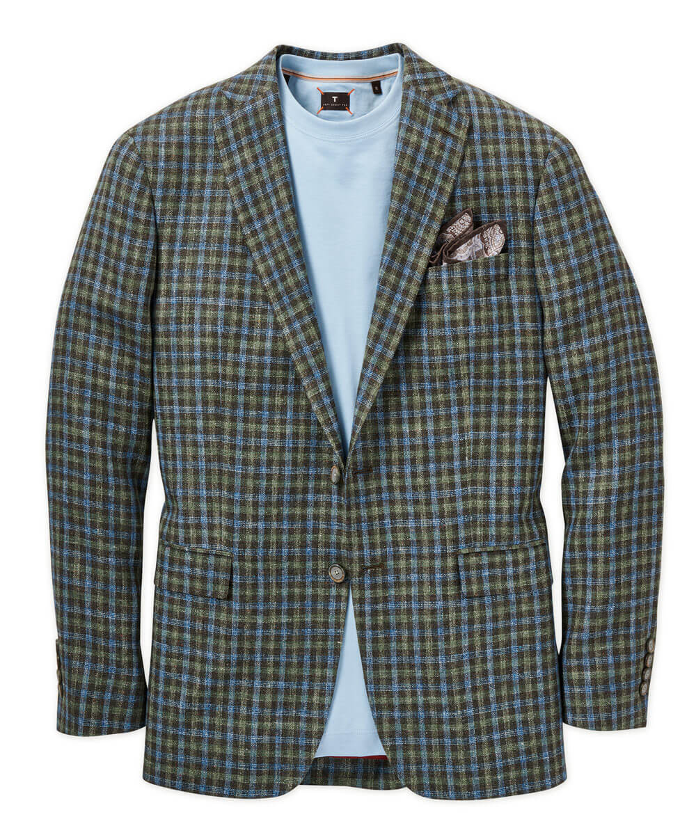 Italian Silk-Linen-Wool Check Sport Coat