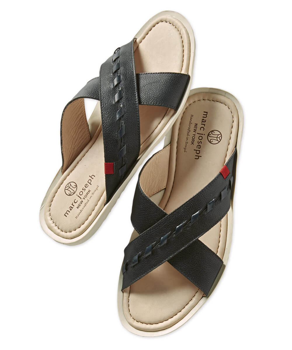 Marc Joseph Cedar Beach Leather Slip-On Sandal