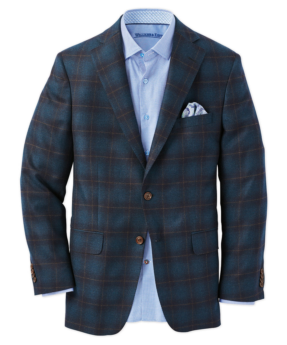 Italian Super 110S Wool Tartan Sport Coat