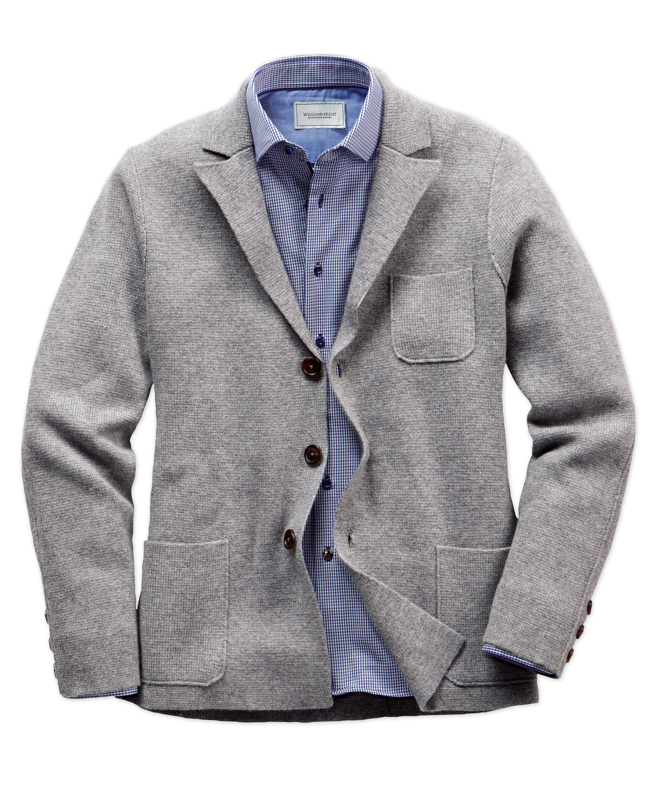 Alan Paine Wendover Wool-Cashmere Sweater Jacket