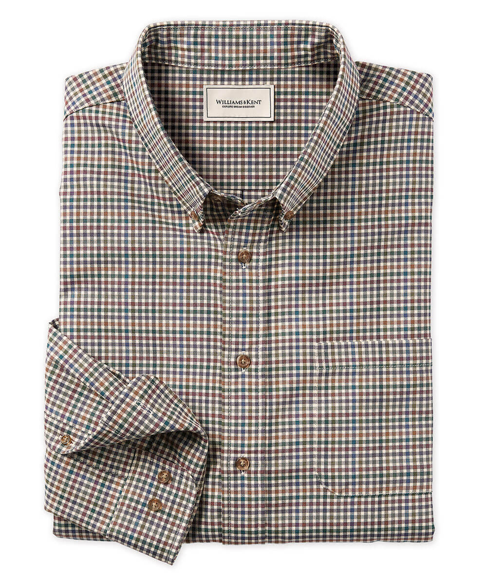 Cotton-Wool Multi Check Long Sleeve Sport Shirt