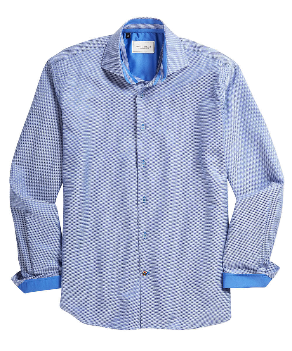 Tic Weave Long Sleeve Sport Shirt