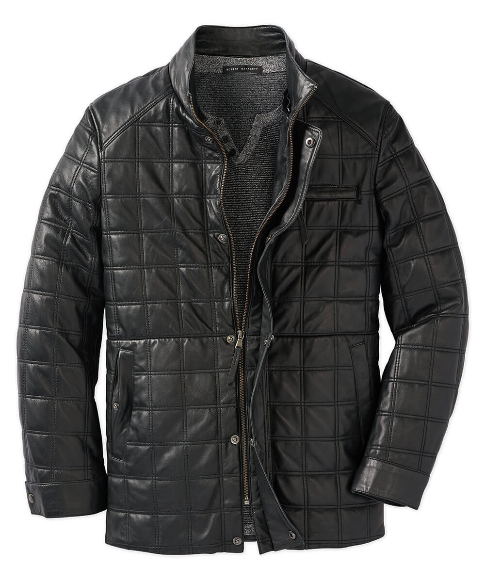 Quilted Lamb Field Coat With Detachable Shearling Collar