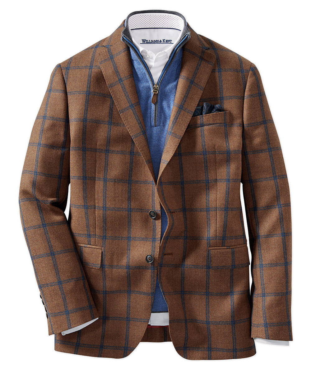 Loro Piana Wool Windowpane Sport Coat