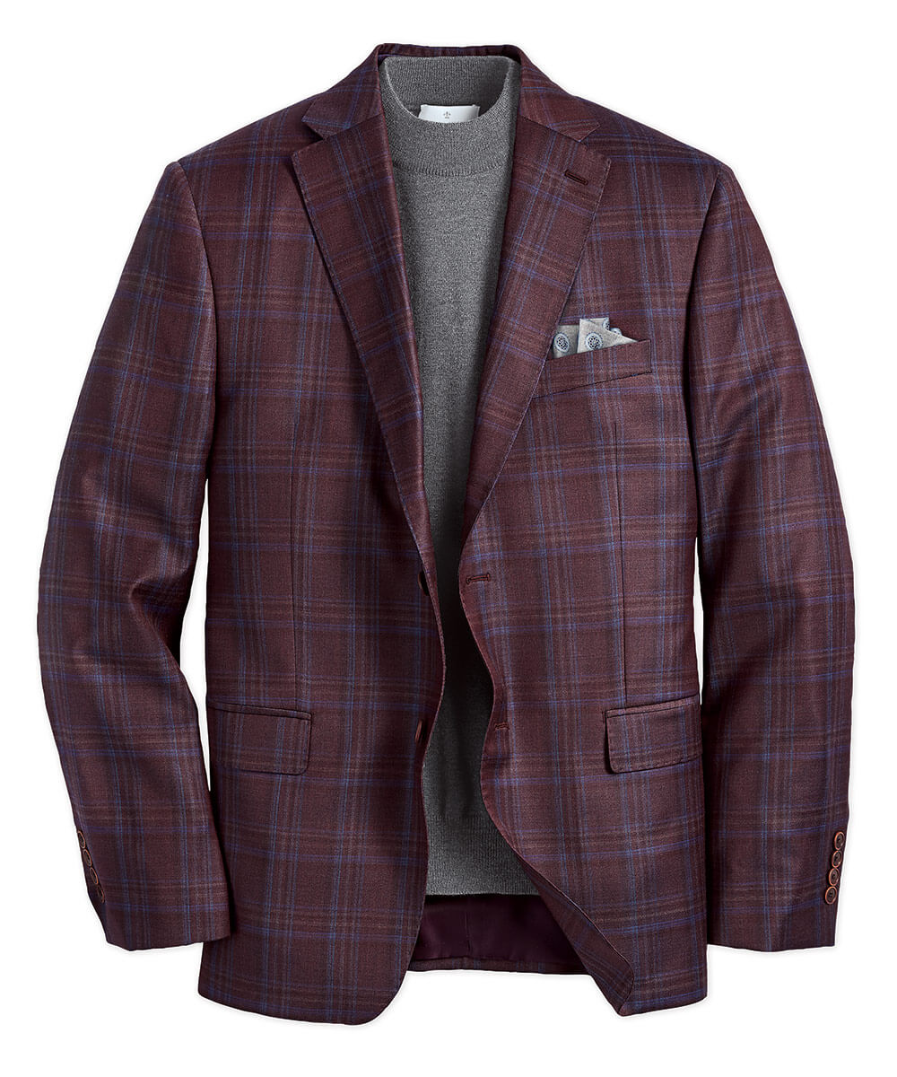 Wool Pinot Windowpane Sport Coat