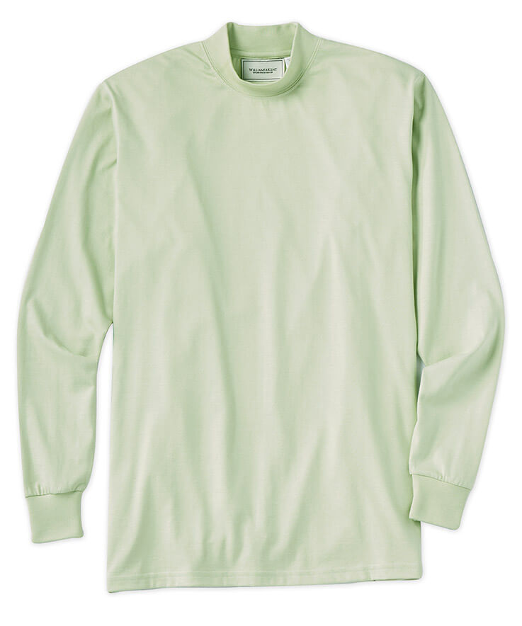 Pima Cotton Mock Neck Pullover