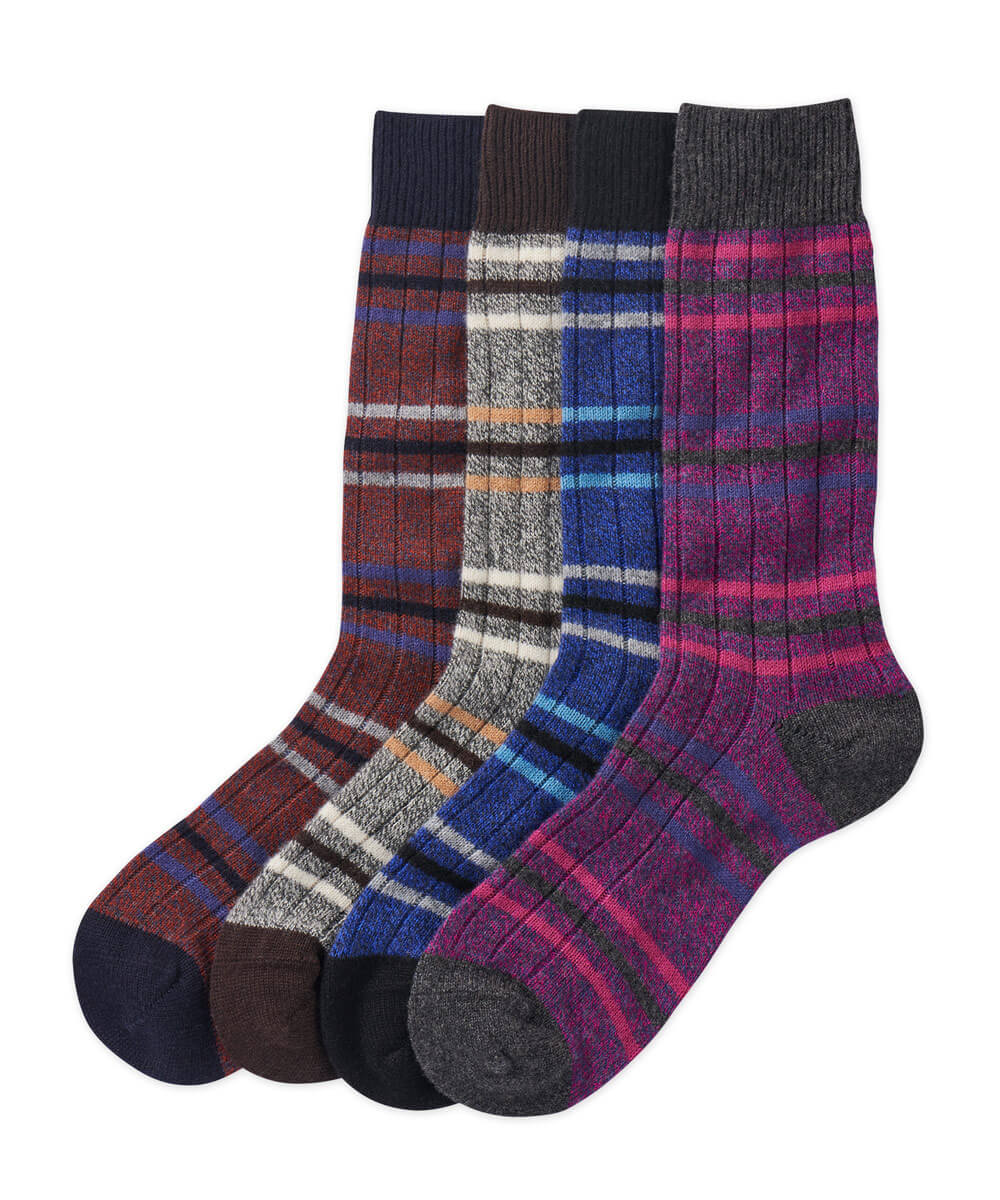 Pantherella Cashmere Stripe Socks