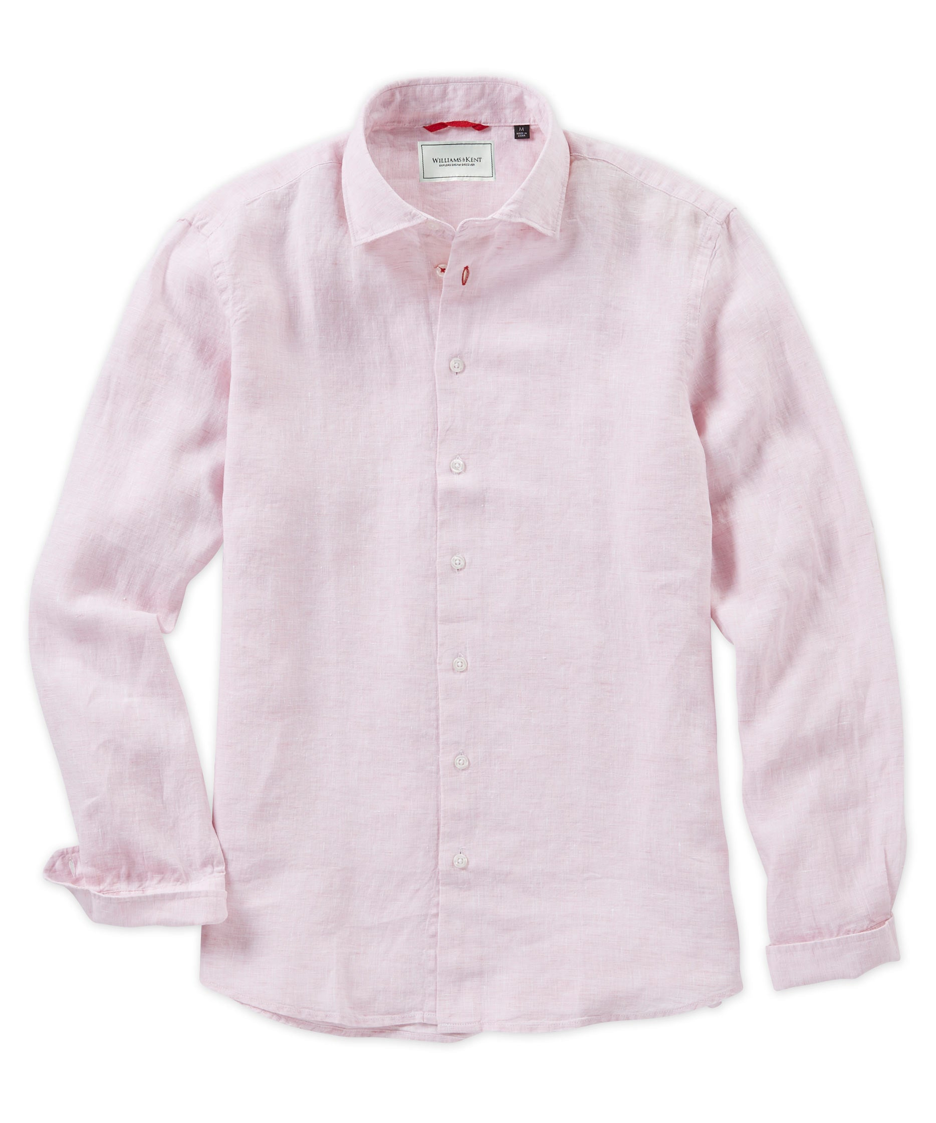 Specialty Weave Linen Long Sleeve Sport Shirt