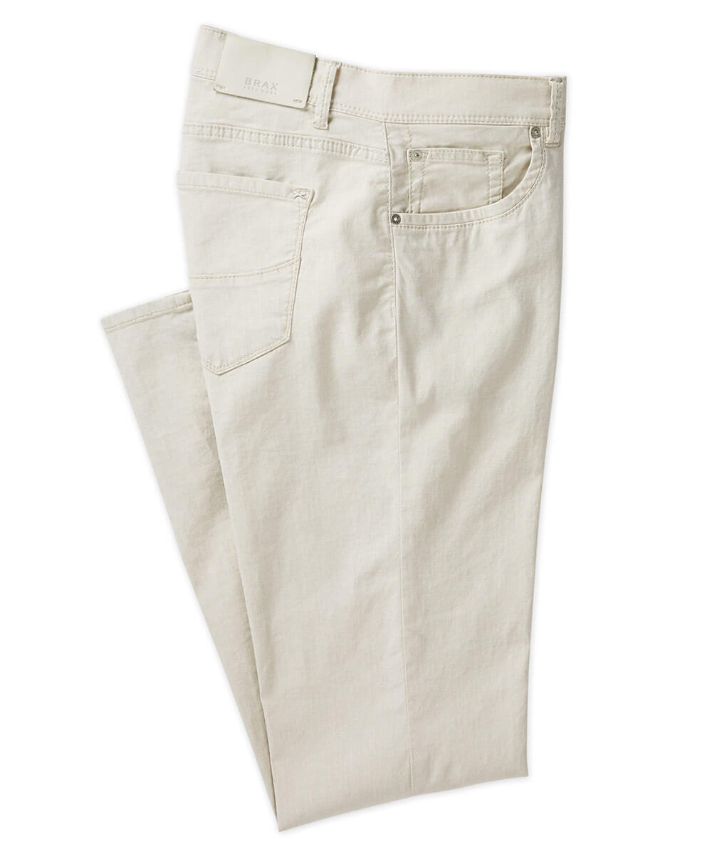 Brax Linen-Cotton Stretch 5-Pocket Pant