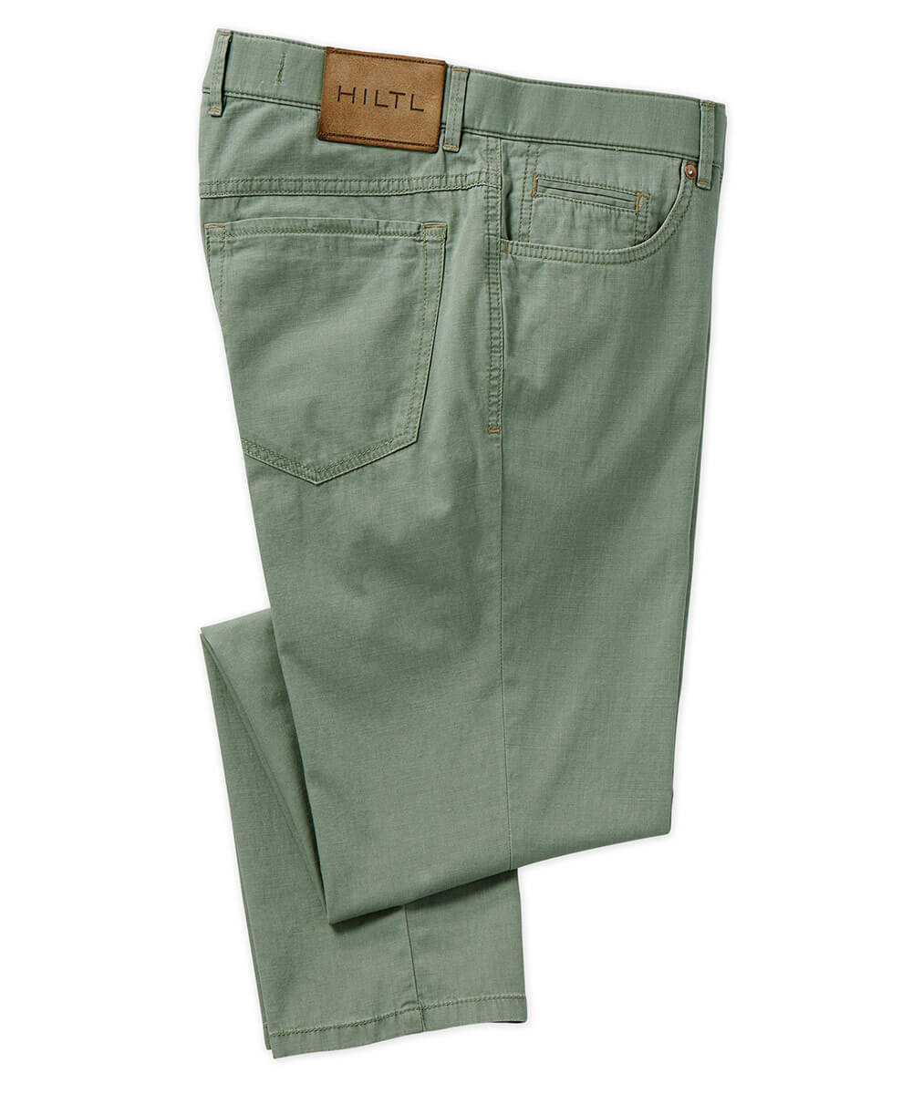 Hiltl Texture Printed Stretch 5-Pocket Pant