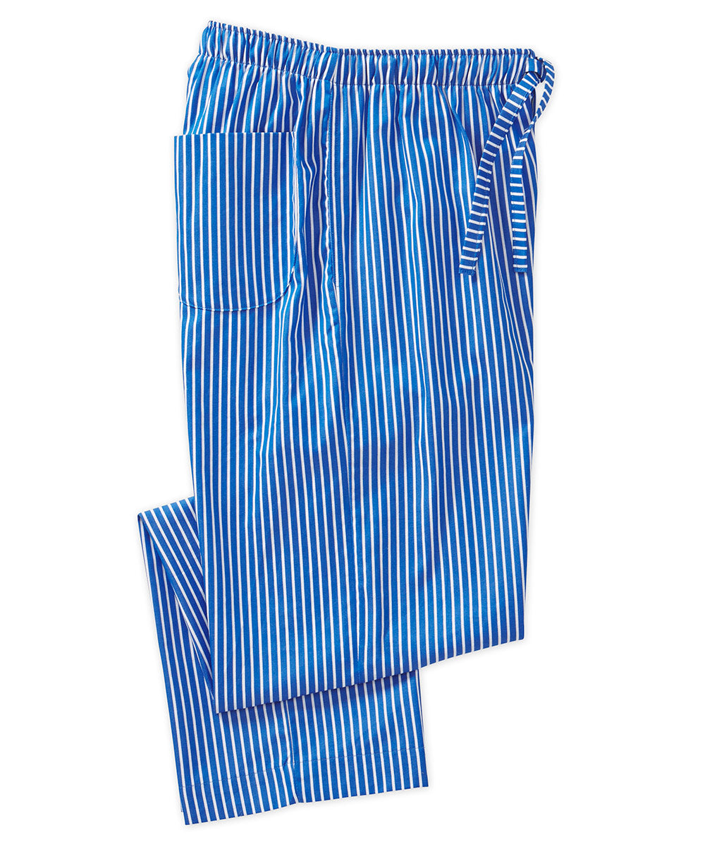 Derek Rose Lightweight Woven Stripe Lounge Pant