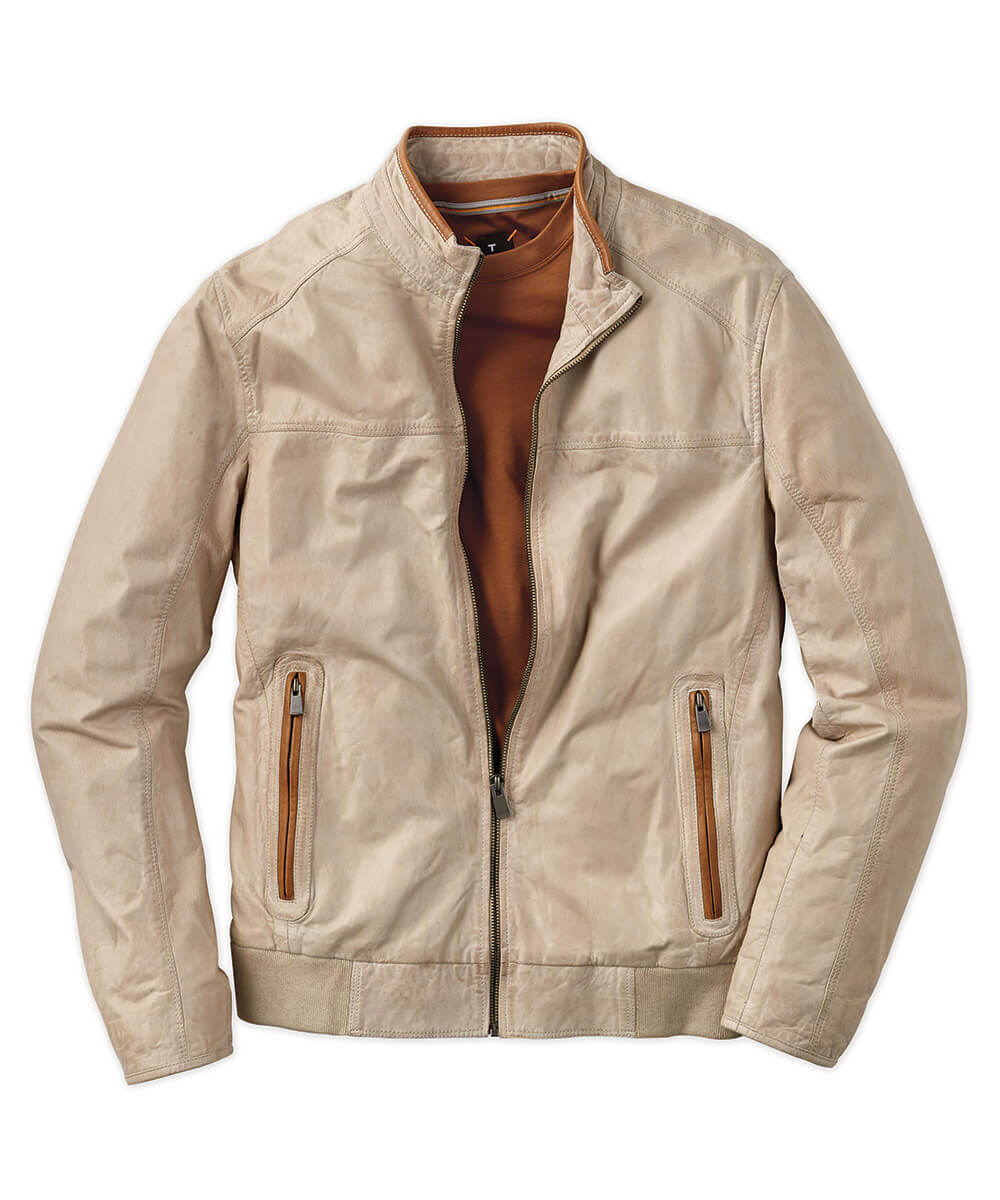 Ultralight Leather Moto Jacket