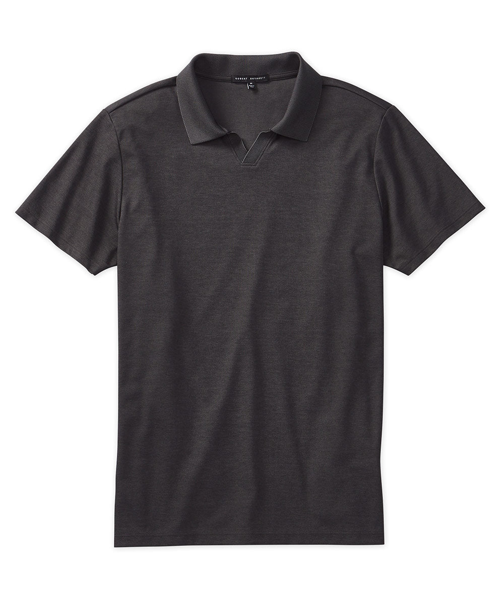 Robert Barakett Open-Placket Short Sleeve Polo Shirt