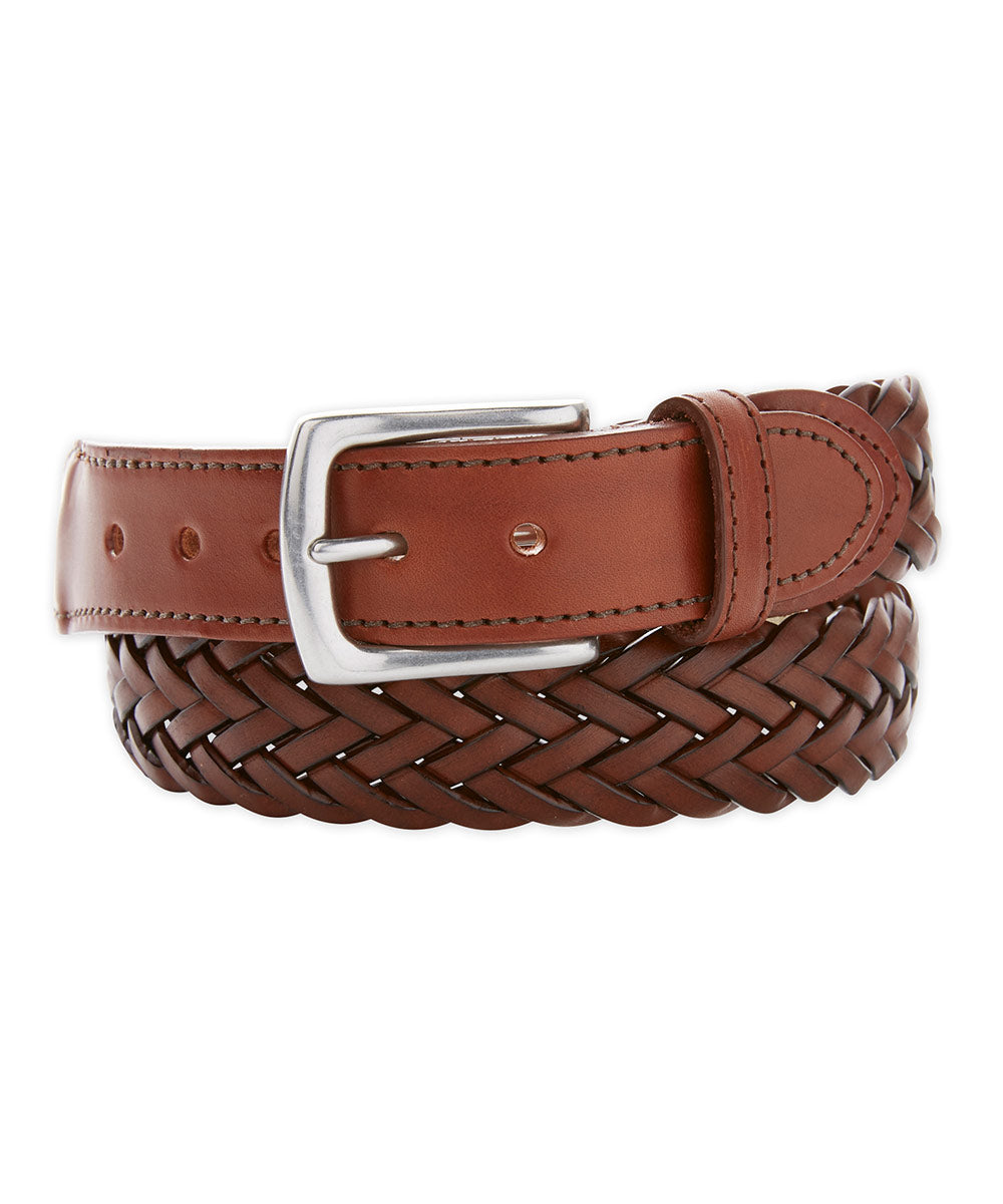 T.B. Phelps Maxwell Braided Leather Belt
