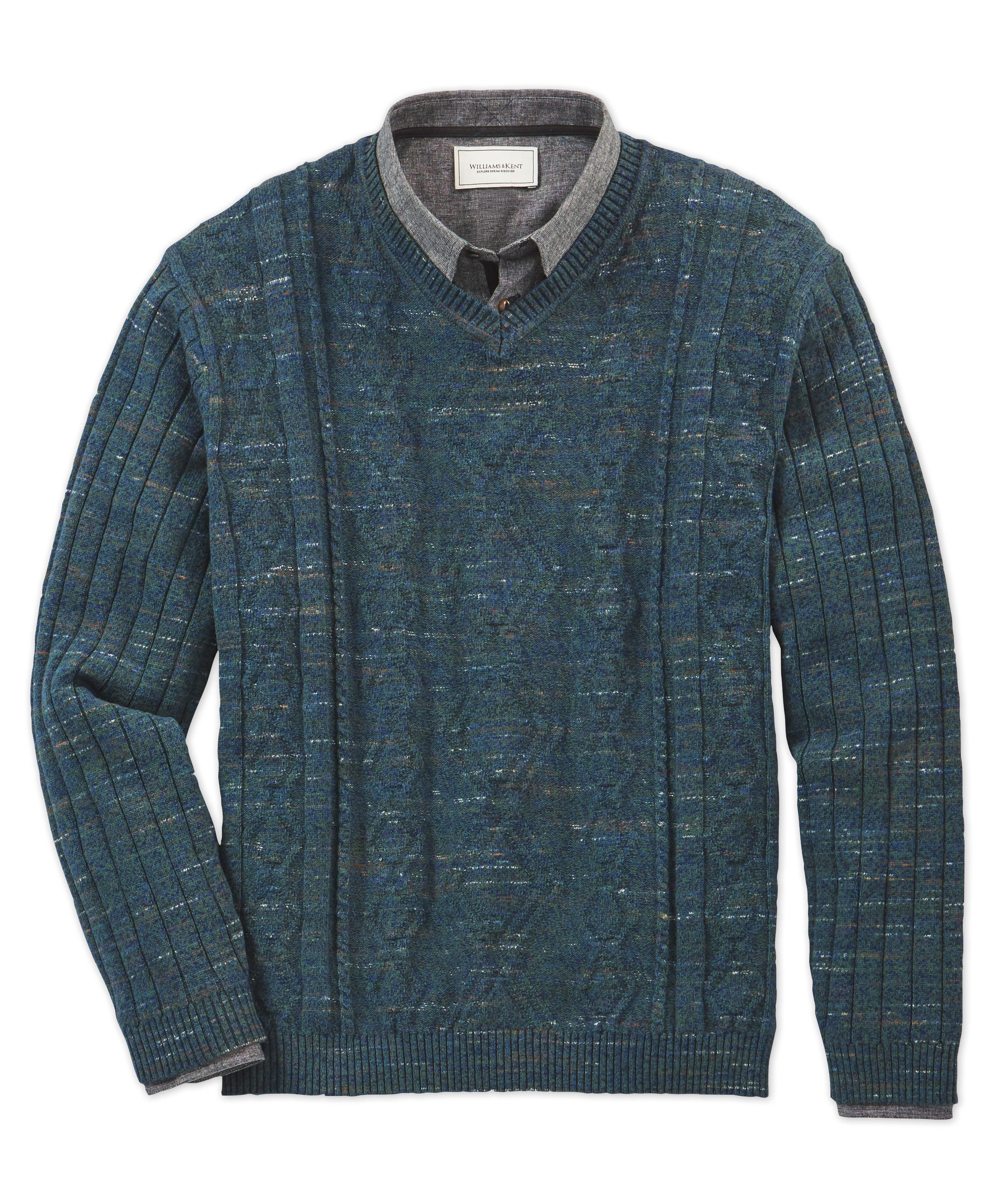 Novelty Fisherman V-Neck Sweater