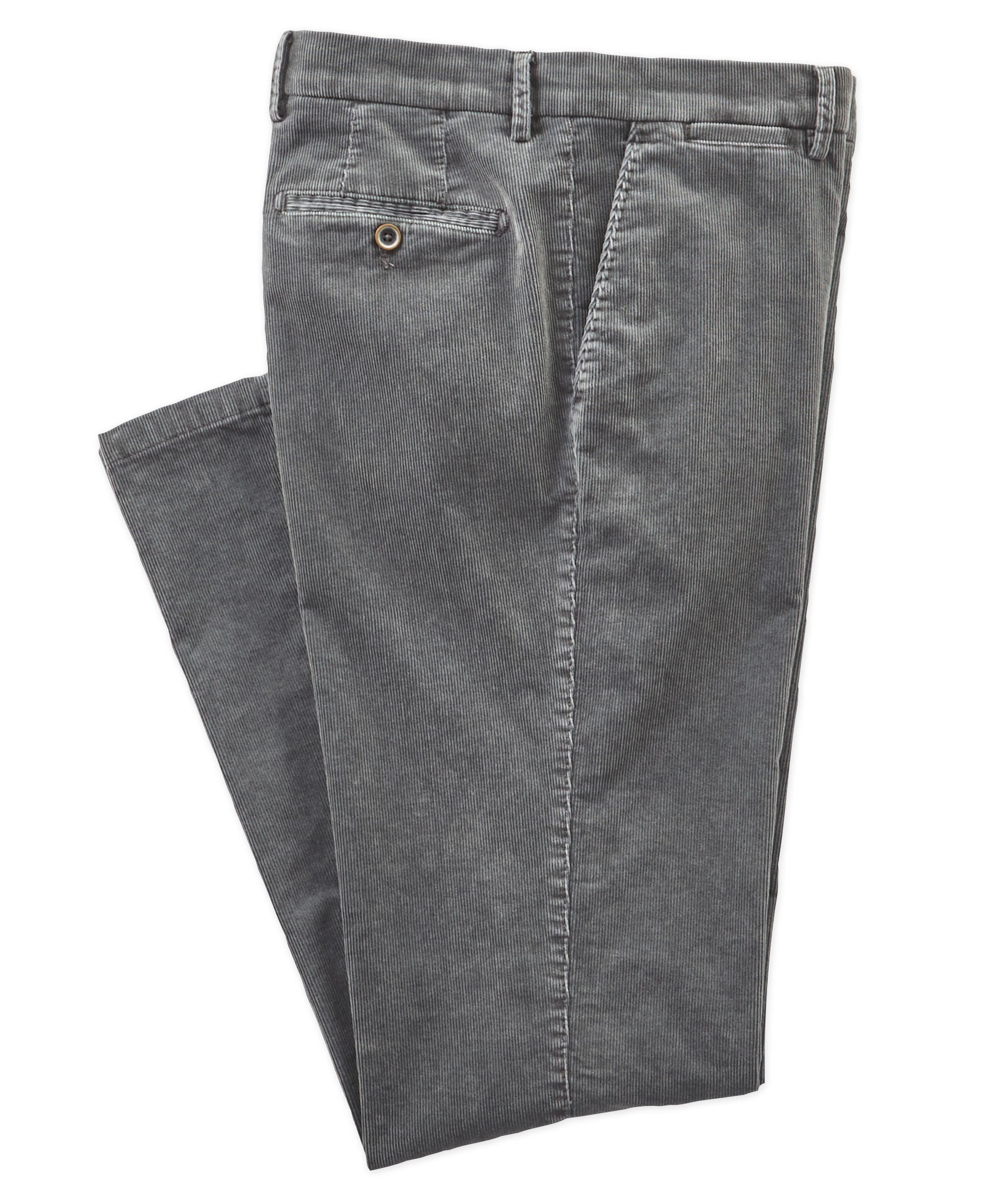 Stretch Corduroy Flat-front Trouser