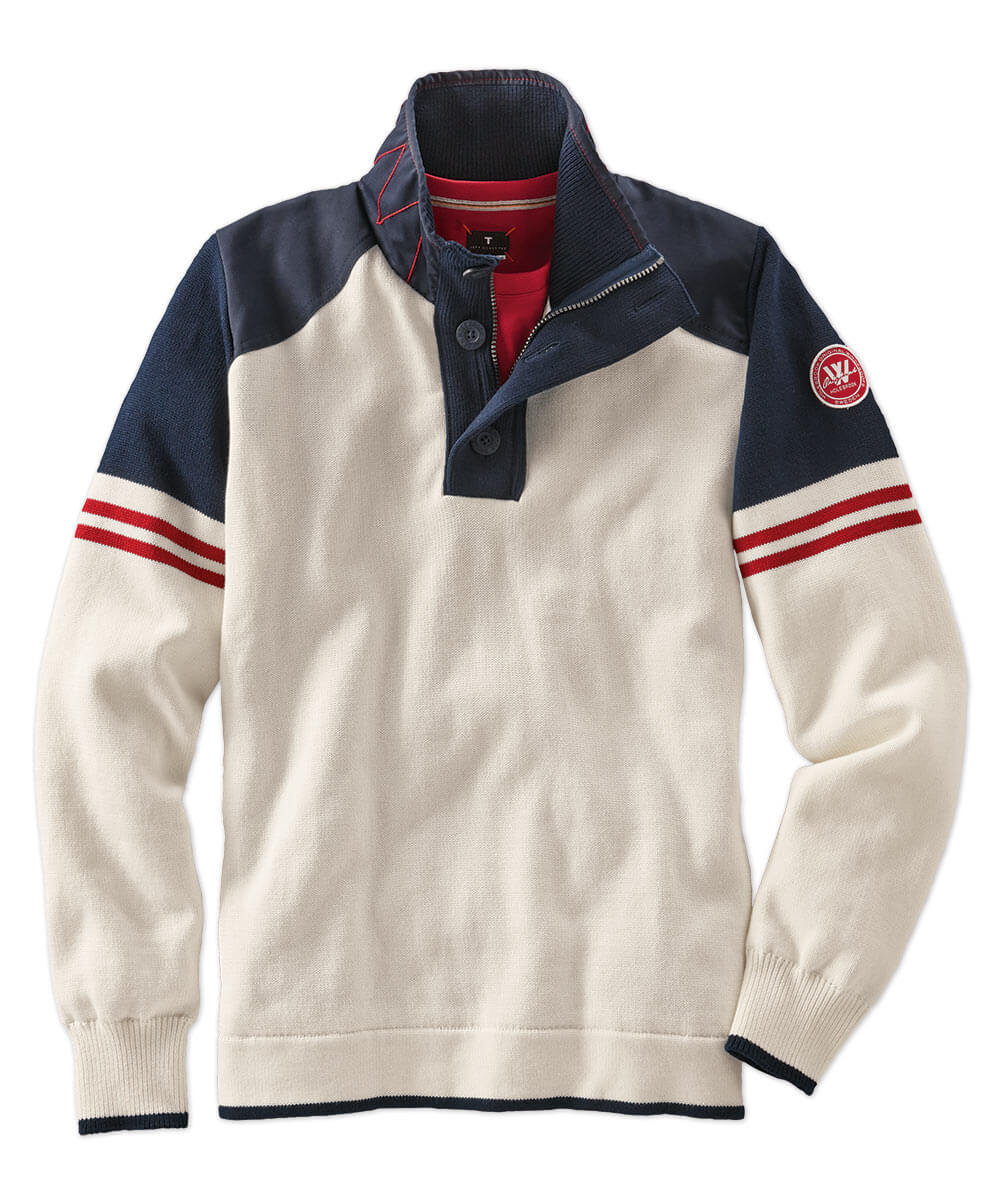 Holebrook Freddy Windproof Cotton Polo Sweater