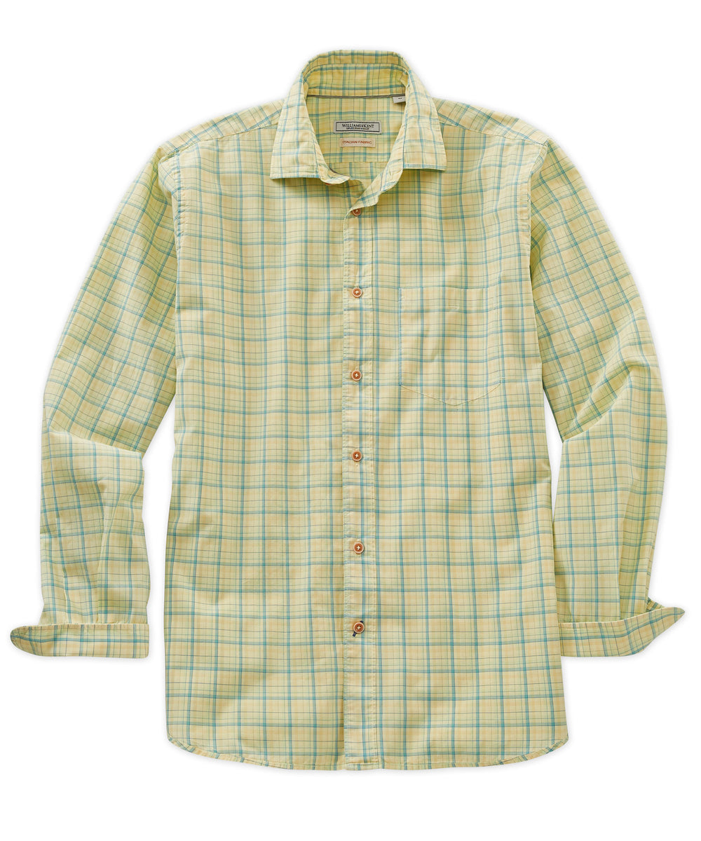 Small Check Long Sleeve Sport Shirt
