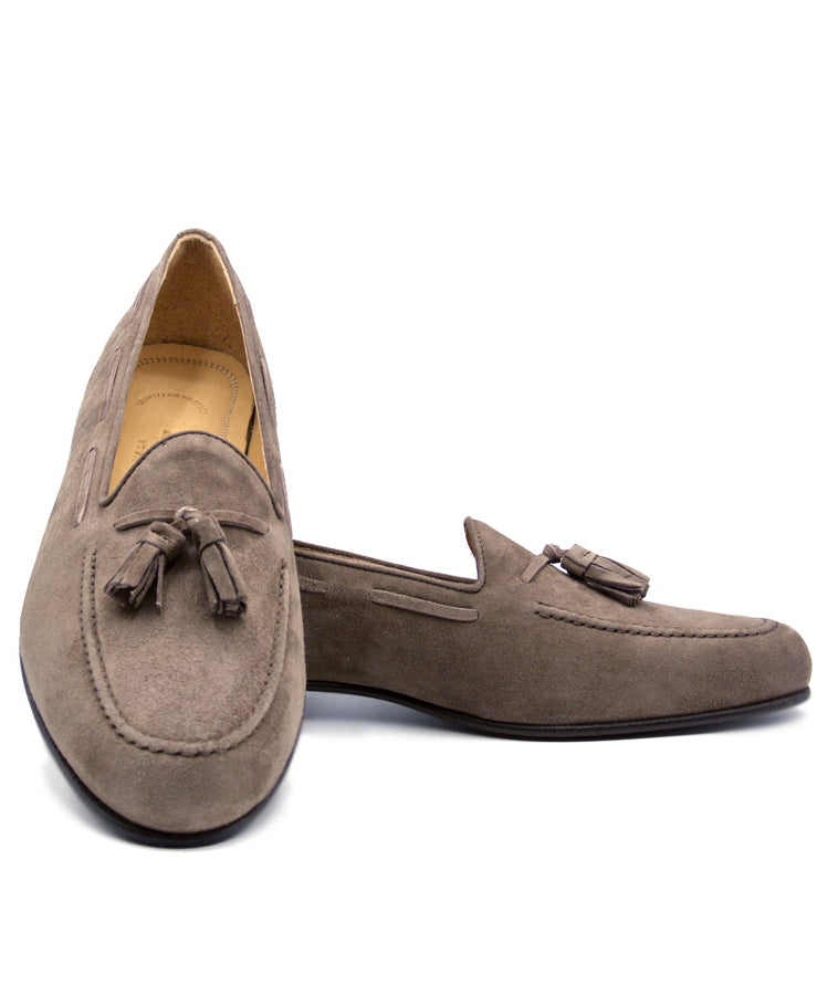 NAPLES Italian Kid Suede Tassel Loafer