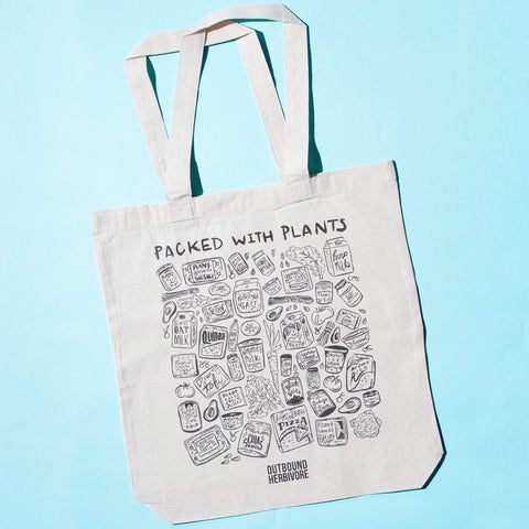 100% Canvas Packed With Plants Vegan Tote Bag - Outbound Herbivore