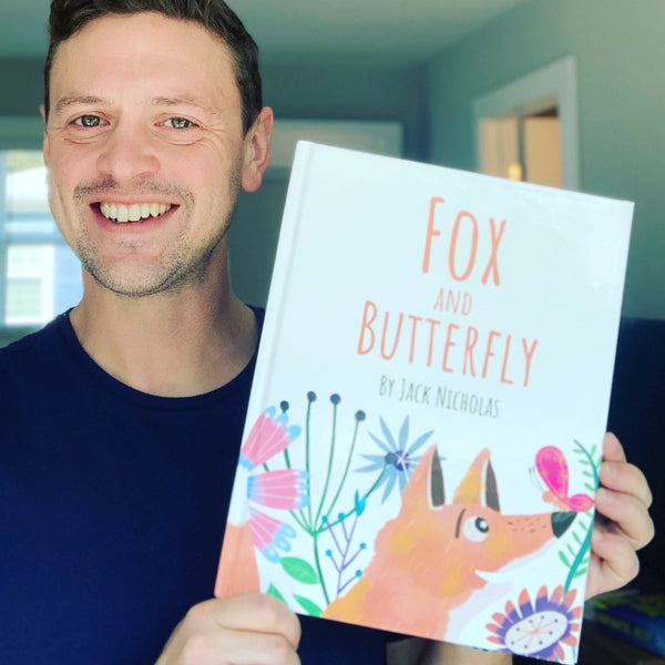 Fox and Butterfly. Original illustrated children's book by Jack Nicholas. Illustrated by Annie Wilkinson paperback book