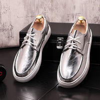 High quality New Men's Simple dazzling colors Causal flat  shoes luxury designer Hip-hop punk Loafers sneakers for web celebrity