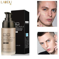 Free Return LAIKOU Men BB Cream Face Cream Natural Whitening Skin Care Men Effective Care Sunscreen Face Foundation Base Makeup Skin Color