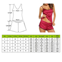 Women Pajamas Set Ice Silk Thin Pajamas Set Casual Sexy V-neck Camisole Sleeveless Tops+Shorts Female Pajamas Homewear