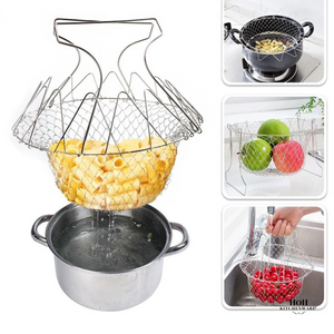 HoH Kitchenware™ Stainless Steel Folding Strainer