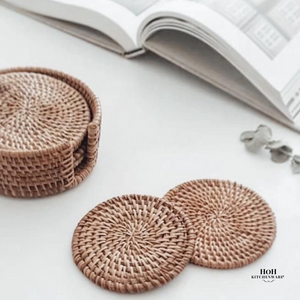HoH Kitchenware™ 6pcs Rattan Coaster Set