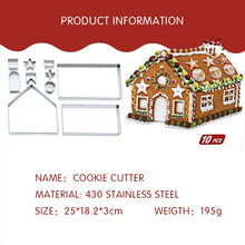 Load image into Gallery viewer, HoH Kitchenware 3D Gingerbread House Cutter