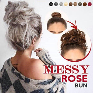 [2 PCS ONLY RM99🔥] TS™ Natural Messy Rose Bun Hair