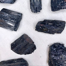 Load image into Gallery viewer, Black Tourmaline Chunks - Protection & Grounding