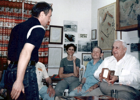 Gift to Prime Minister Ariel Sharon at his visit to Kibbutz Ruhama 1999