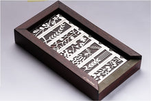 Load image into Gallery viewer, Mezuzah Case Wood & Brass Package Gift seven spices Lev Shneiderman 8 cm Scroll