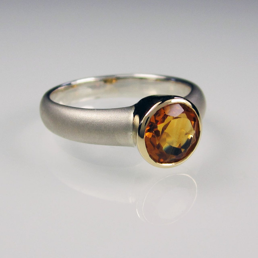 Orah London Gold Aphrodite ring with Citrine
