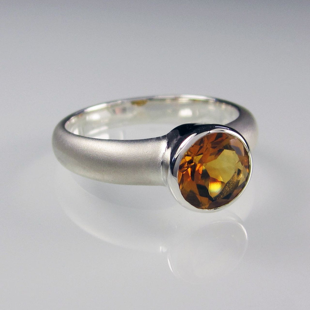 Orah London Silver Aphrodite ring with Citrine