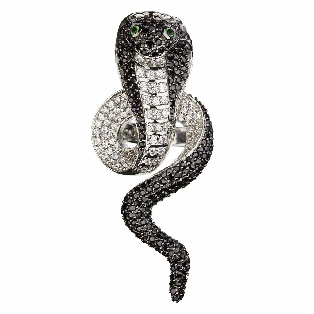 Orah London Black Cobra Ring