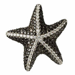 Orah London Black Starfish Pendant-Brooch