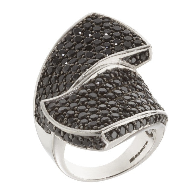 Orah London Black Swirl Ring