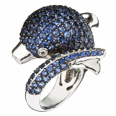 Orah London Blue Dolphin Ring
