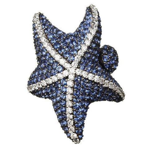 Blue Starfish Ring