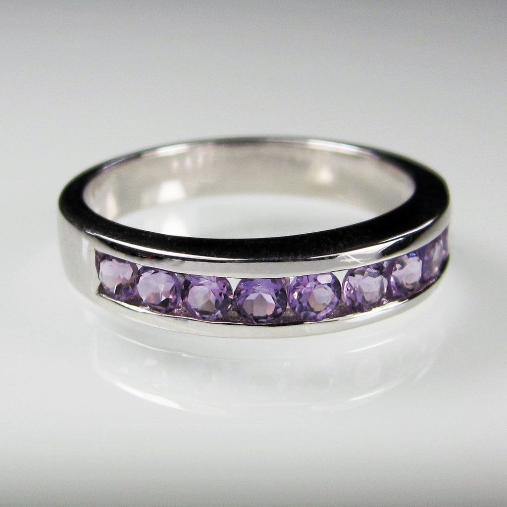 Orah London Eternity ring with Amethyst