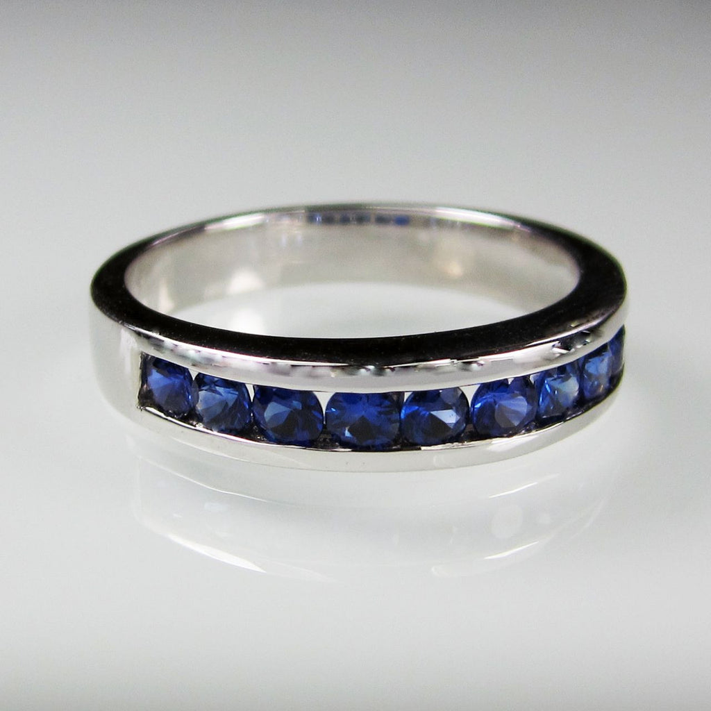 Orah London Eternity ring with Blue Sapphires