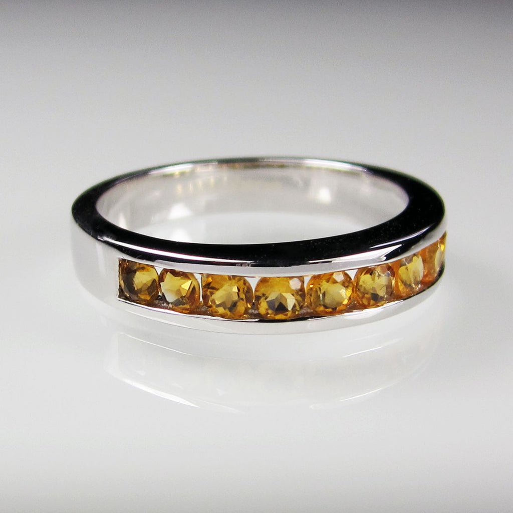 Orah London Eternity ring with Citrine