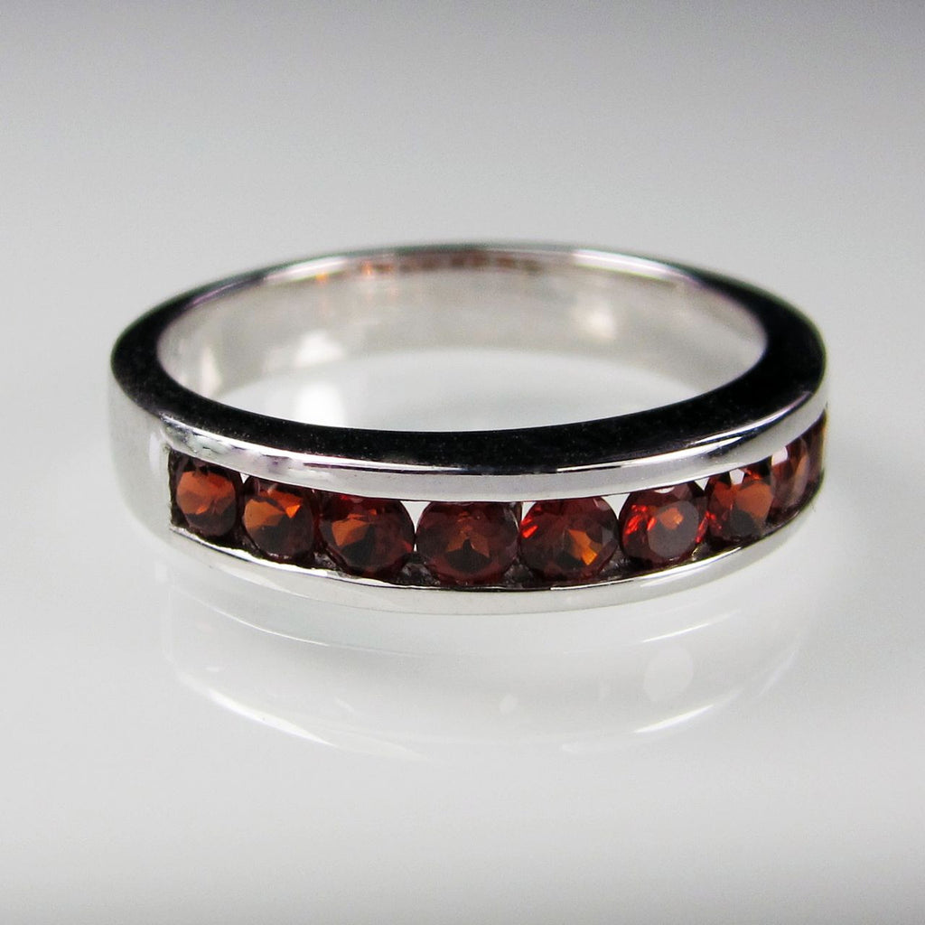 Orah London Eternity ring with Garnet